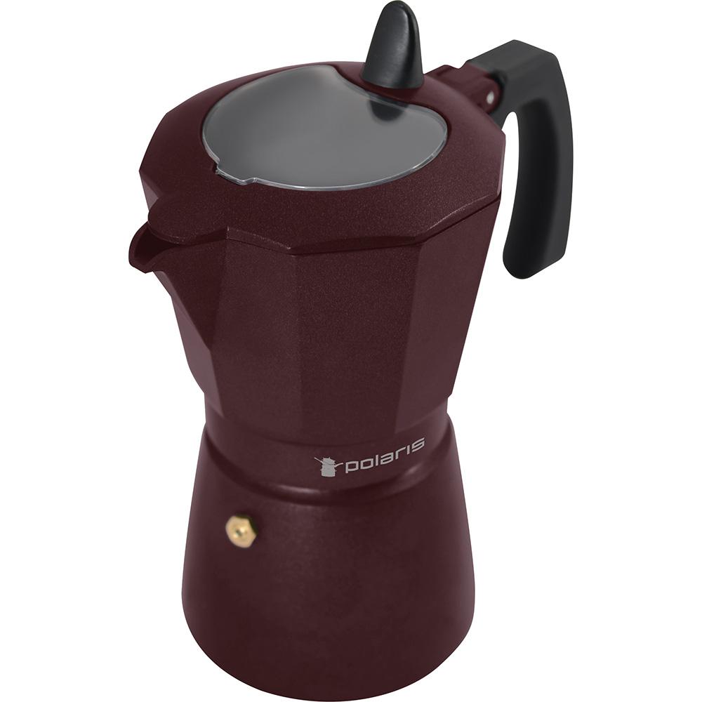 Гейзерная кофеварка Polaris Burgundy-6C 6 чашек фото
